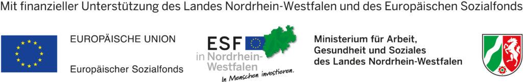 Mit finanzielle Unterstützung des Landes Nordrhein-Westfalen und des Europäischen Sozialfonds